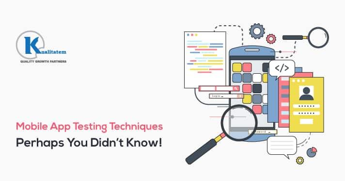 Mobile app testing technique