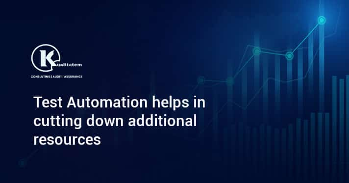 Test Automation helps in cutting down additional resources