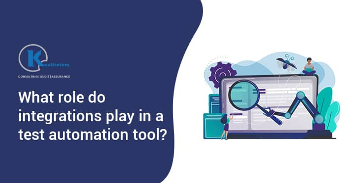 What role do integrations play in a test automation tool
