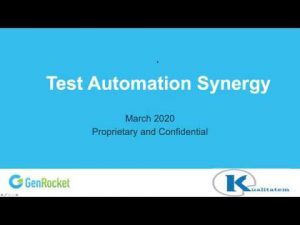 Test Data Automation-Webinar by Kualitatem and GenRocket