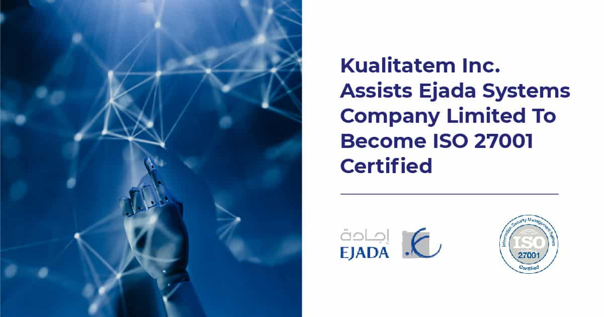 Kualitatem Assists EJADA in ISO Certification