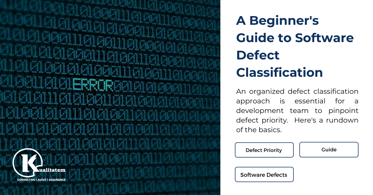 A Beginner's Guide to Software Defect Classification